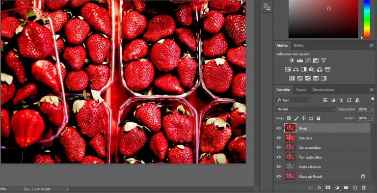 Exercício camadas no photoshop 1