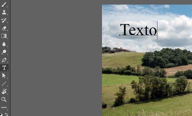 Adicionar texto no photoshop