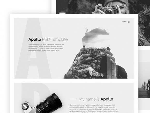 Apollo - tema gratuito em html para fotógrafos