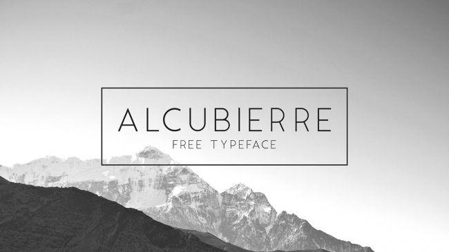 free font alcubierre