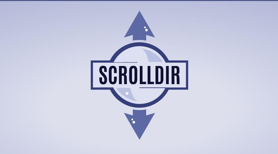framework css scrolldir