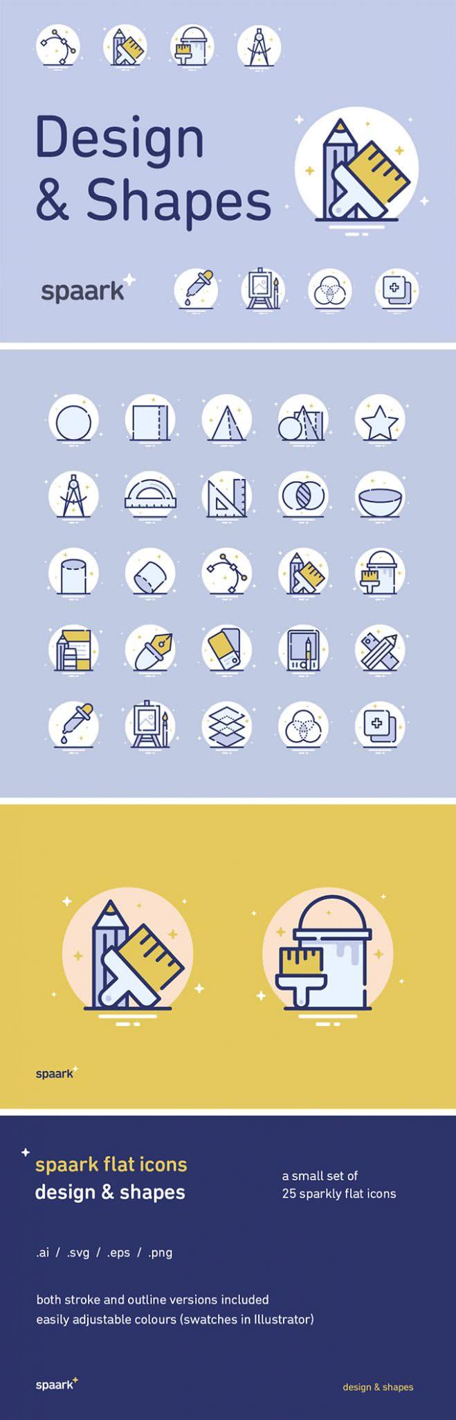 ícones gratuitos design and shape