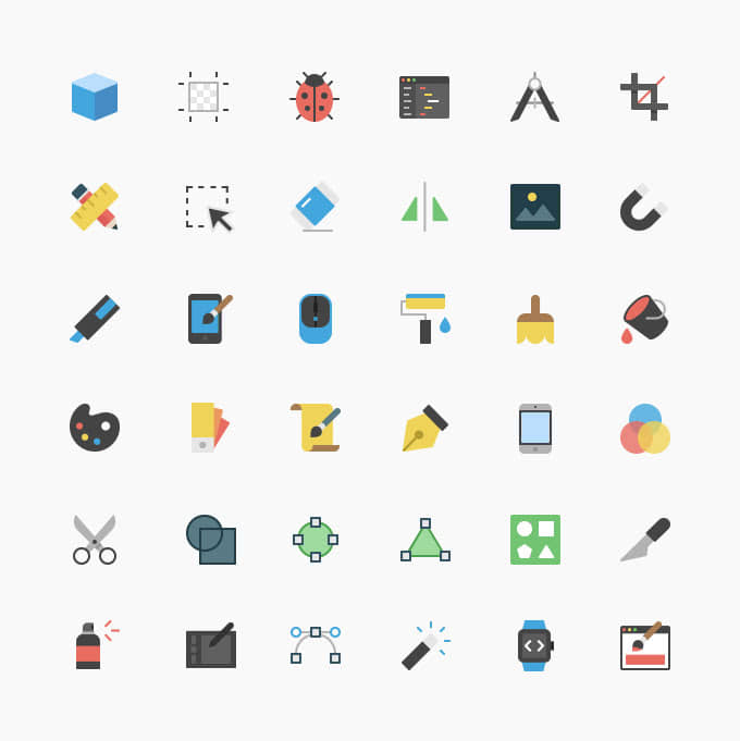 ícones design gráfico