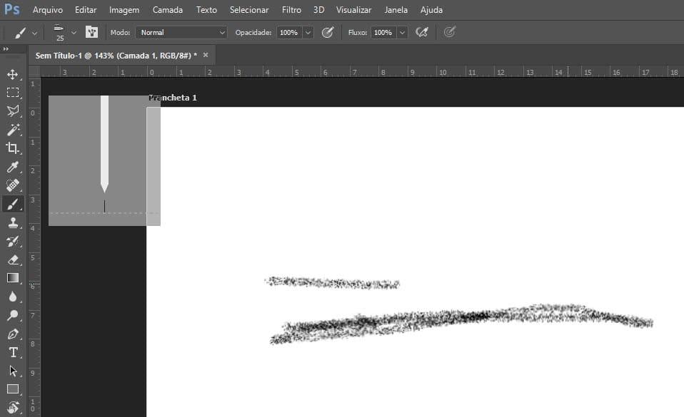 Predefinições de pincél no photoshop