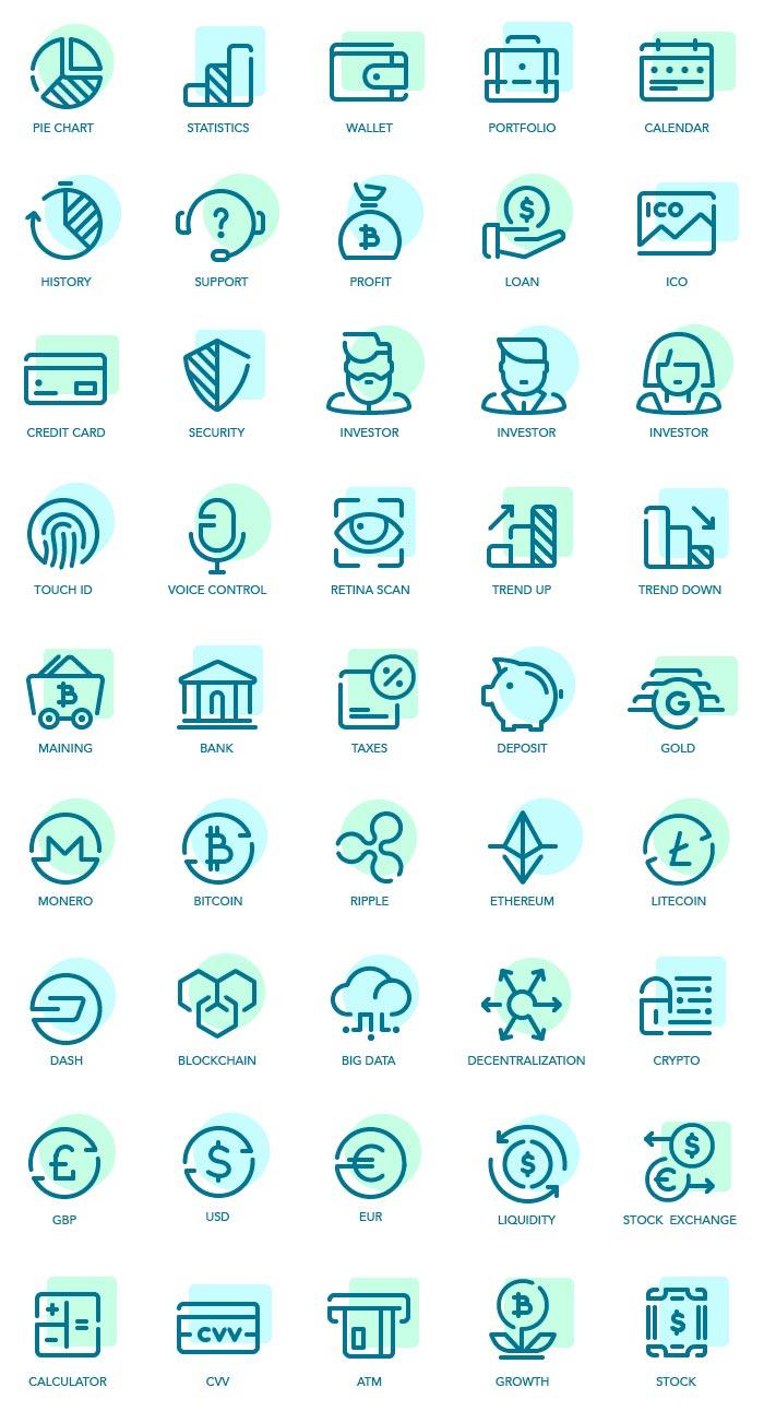 ícones de fintech para download de graça
