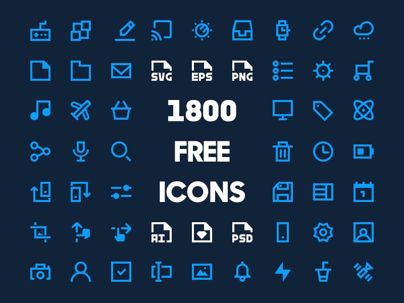 ícones minimalistas download de graça