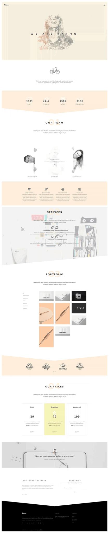 template html karmo gratuito