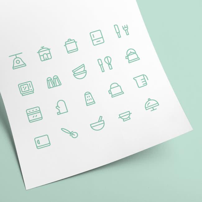 ícones de cozinha para baixar de graça
