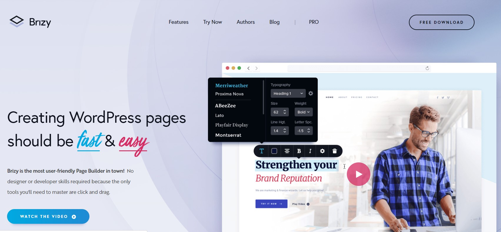 Editor visual para wordpress brizy