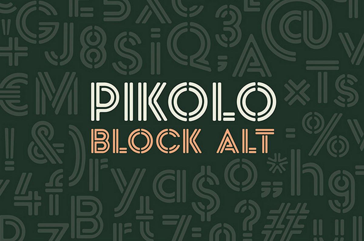 Fonte gratuita Pikolo