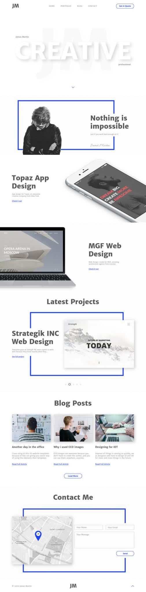 portfólio html de graça