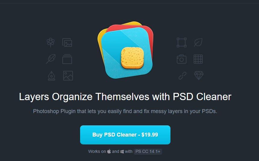 Plugin para o photoshop PSD Cleaner