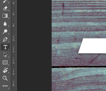 Localização ferramenta de texto no photoshop