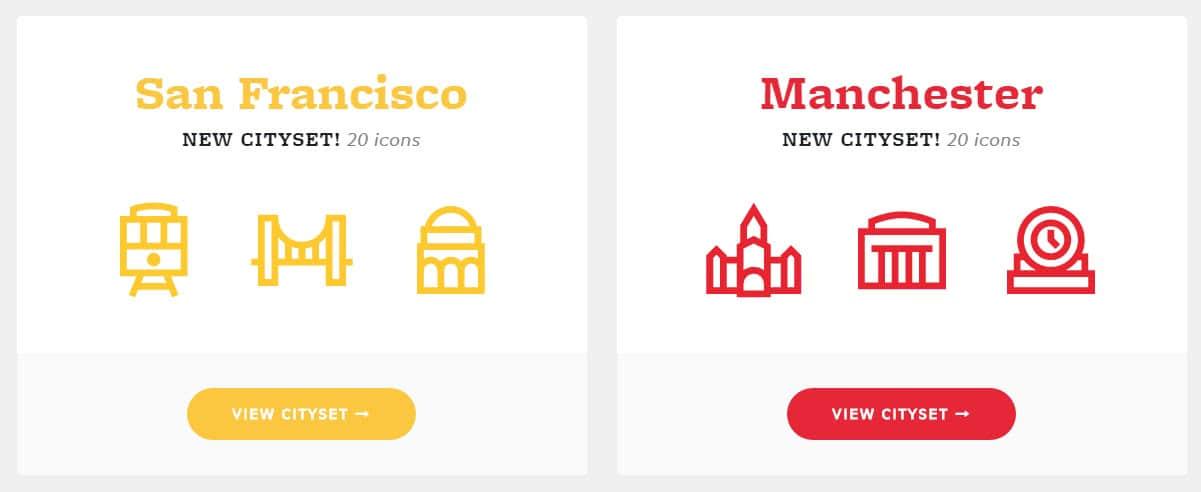 ícones de cidades
