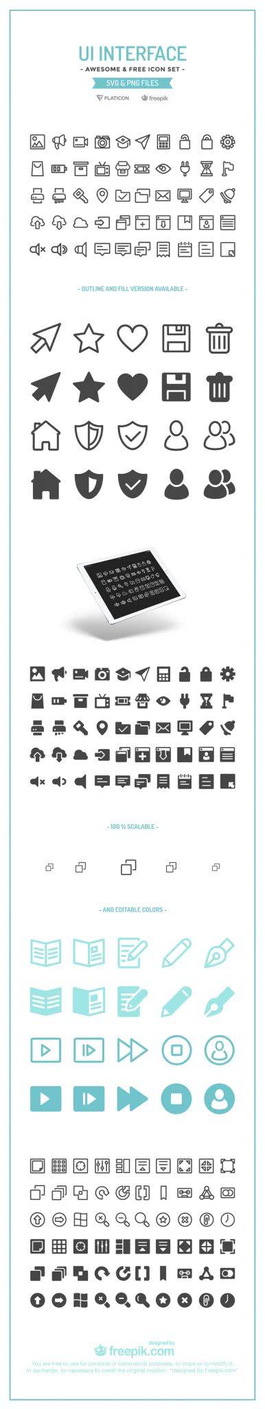 ícones de graça ui interface