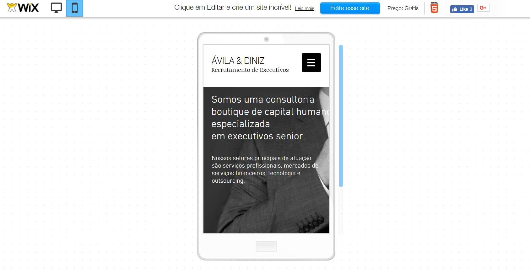 criar site responsivo no wix