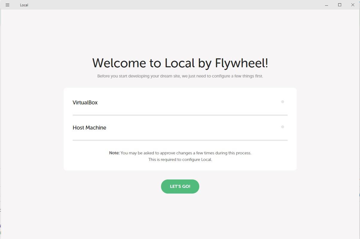 configuração do flywheel para instalar o wordpress