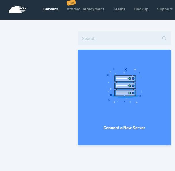 criar novo servidor com o runcloud