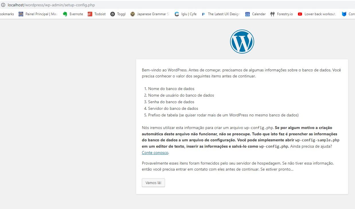 Instalar wordpress local