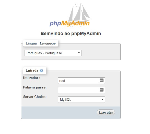 login no phpmyadmin