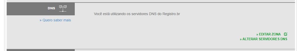 alterar ns no registro.br
