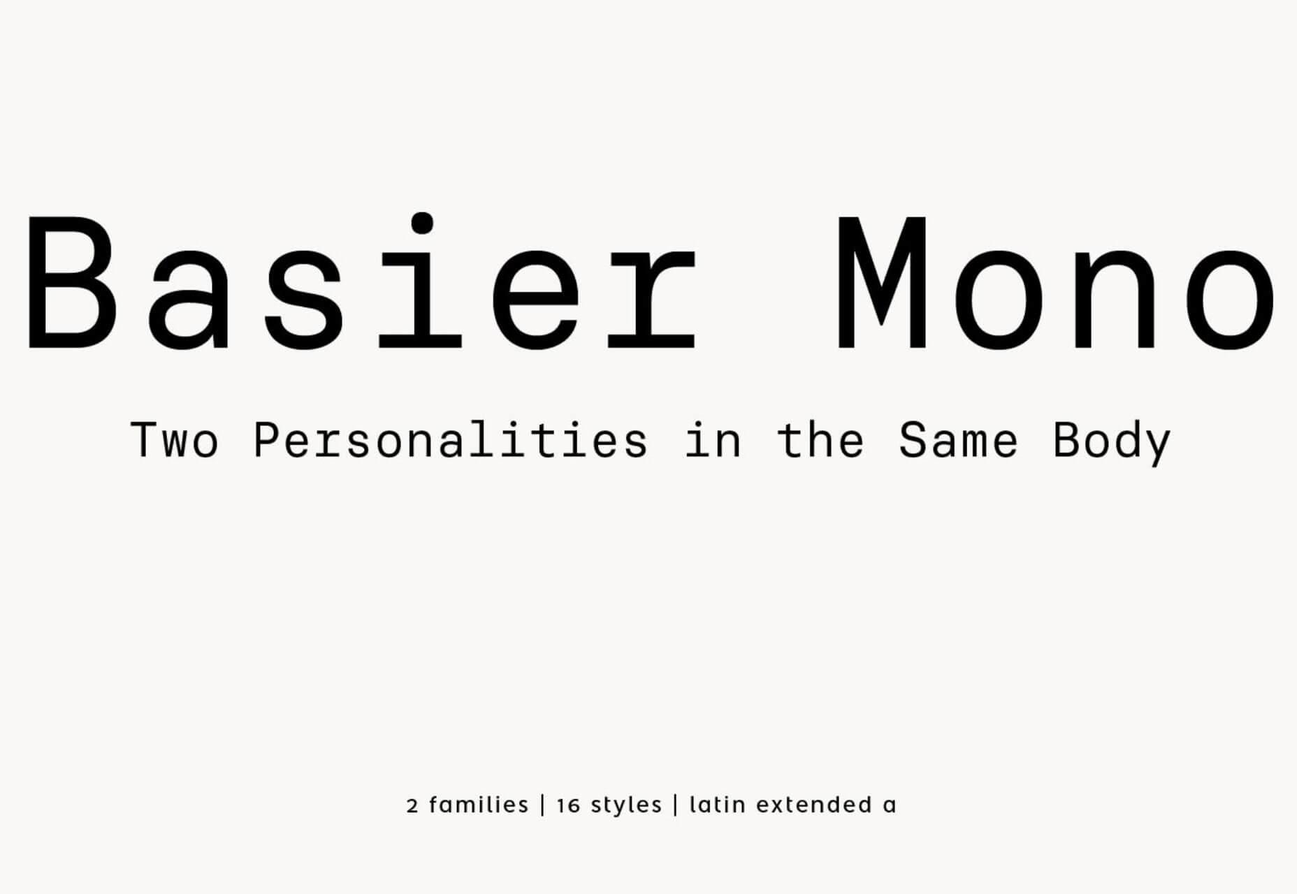 Free font Basier Mono