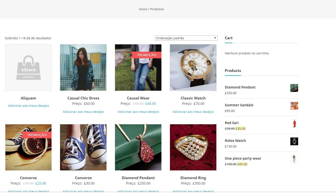 Listagem de produtos no WooCommerce