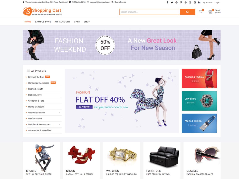 Tema WordPress similar ao Aliexpress