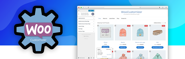 WooCommerce woocustomizer plugin